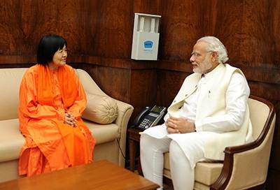インドのモディ首相と面会
