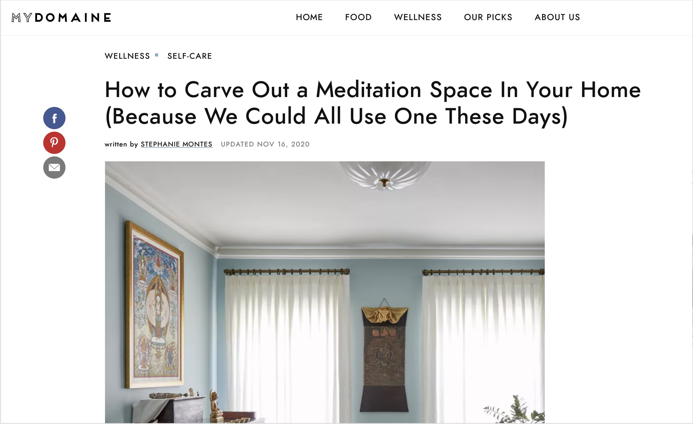 Yogmata was introduced on MyDomaine.com
